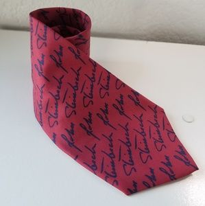 Josh Bach red blue signature mens tie